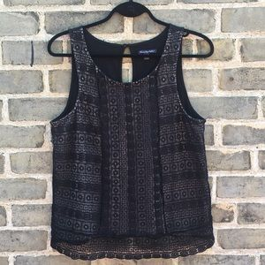 American Eagle, Tank w/Crotched Lace Overlay